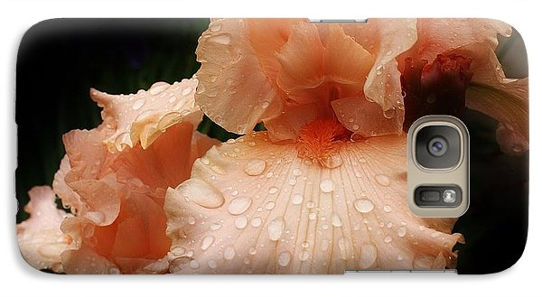 Pink Iris 1 Galaxy Case by Bruce Bley