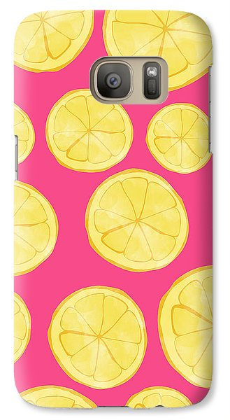 Pink Lemonade Galaxy S7 Case by Allyson Johnson