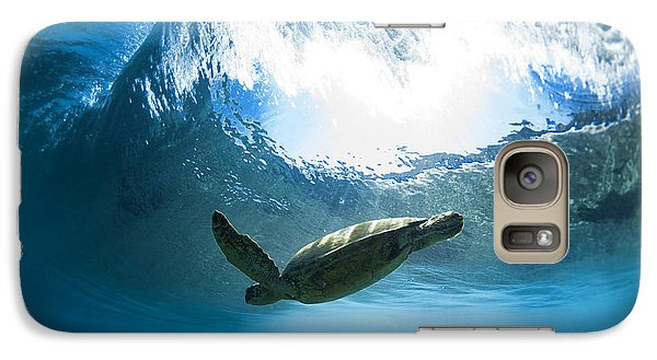 Pipe Turtle Glide Galaxy S7 Case by Sean Davey