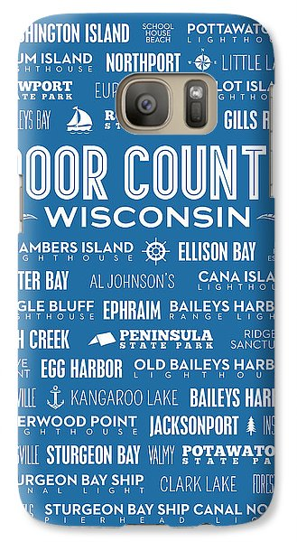 Places Of Door County On Blue Galaxy Case by Christopher Arndt