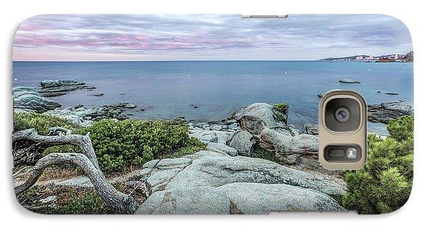 Plain Rocks Cove, Sant Antoni De Calonge Galaxy S7 Case by Marc Garrido