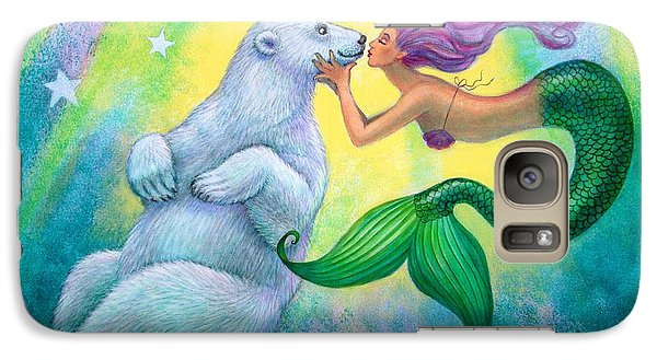 Polar Bear Kiss Galaxy Case by Sue Halstenberg