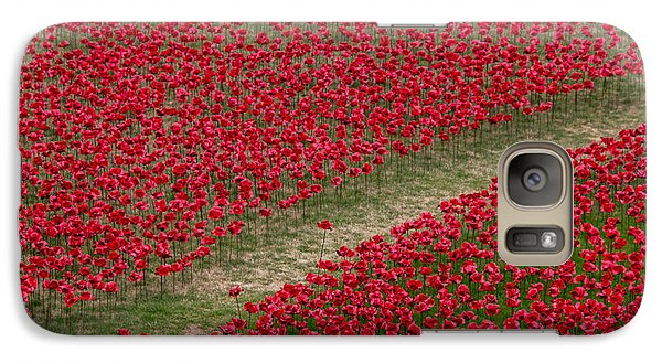 Poppies Of Remembrance Galaxy Case by Martin Newman