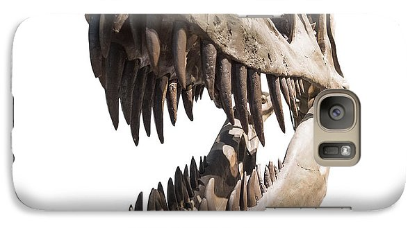 Portrait Of A Dinosaur Skeleton, Isolated On Pure White. Galaxy Case by Caio Caldas