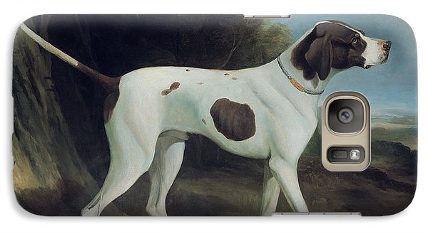 Portrait Of A Liver And White Pointer Galaxy Case by George Garrard