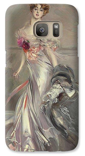 Portrait Of Marthe Regnier Galaxy Case by Giovanni Boldini