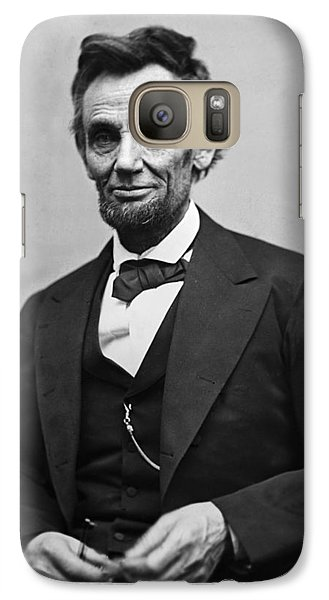 Portrait Of President Abraham Lincoln Galaxy S7 Case by International  Images