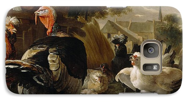 Poultry Yard Galaxy Case by Melchior de Hondecoeter