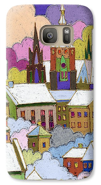 Prague Old Roofs Prague Castle Winter Galaxy Case by Yuriy  Shevchuk