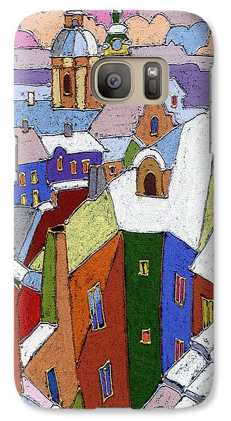 Prague Old Roofs Winter Galaxy S7 Case by Yuriy  Shevchuk