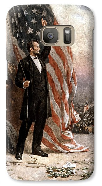 President Abraham Lincoln Giving A Speech Galaxy S7 Case by War Is Hell Store