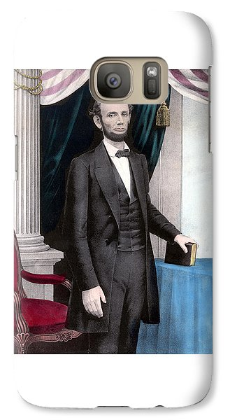 President Abraham Lincoln In Color Galaxy Case by War Is Hell Store