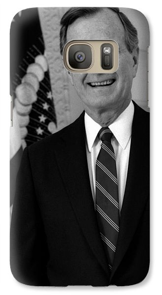 President George Bush Sr Galaxy S7 Case by War Is Hell Store