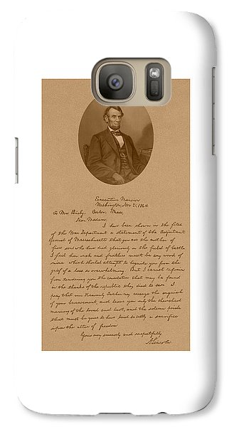 President Lincoln's Letter To Mrs. Bixby Galaxy Case by War Is Hell Store