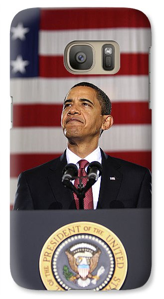 President Obama Galaxy S7 Case by War Is Hell Store