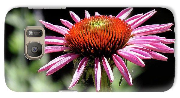 Pretty Pink Coneflower Galaxy Case by Rona Black