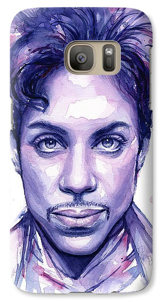 Prince Purple Watercolor Galaxy S7 Case by Olga Shvartsur