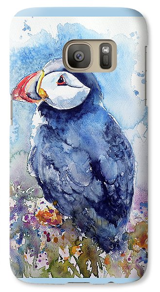 Puffin With Flowers Galaxy S7 Case by Kovacs Anna Brigitta