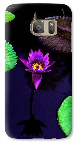 Purple Lily Galaxy Case by Gary Dean Mercer Clark