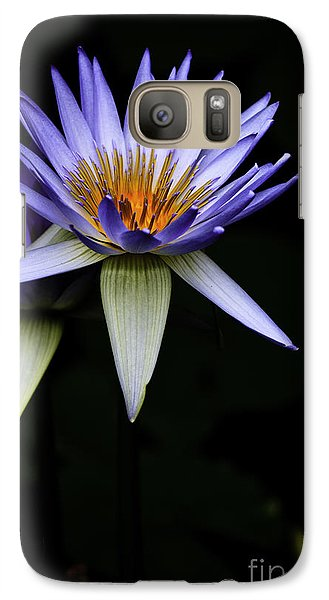 Purple Waterlily Galaxy Case by Avalon Fine Art Photography
