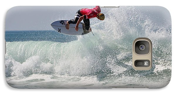 Galaxy Case featuring the photograph Quiksilver Pro France II by Thierry Bouriat
