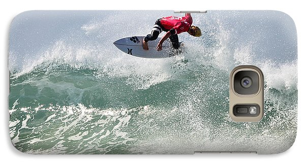 Galaxy Case featuring the photograph Quiksilver Pro France Iv by Thierry Bouriat