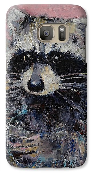 Raccoon Galaxy S7 Case by Michael Creese