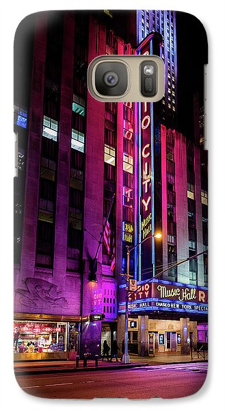 Galaxy Case featuring the photograph Radio City Music Hall by M G Whittingham