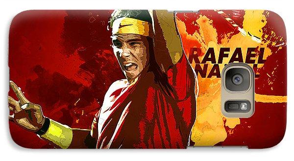 Rafael Nadal Galaxy S7 Case by Semih Yurdabak