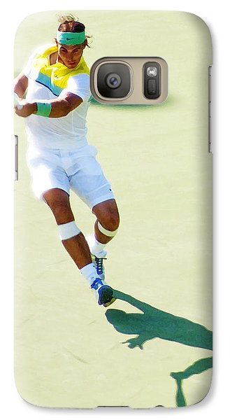 Rafael Nadal Shadow Play Galaxy S7 Case by Steven Sparks