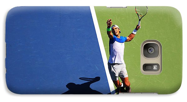 Rafeal Nadal Tennis Serve Galaxy S7 Case by Nishanth Gopinathan