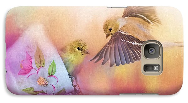Raiding The Teacup - Songbird Art Galaxy Case by Jai Johnson