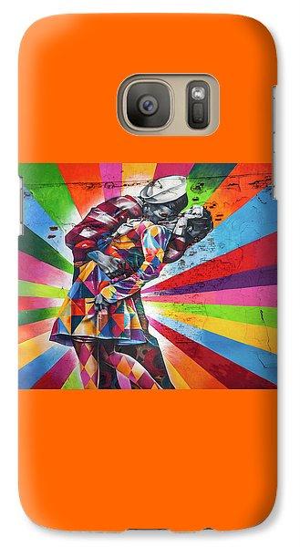 Rainbow Kiss Galaxy S7 Case by Az Jackson