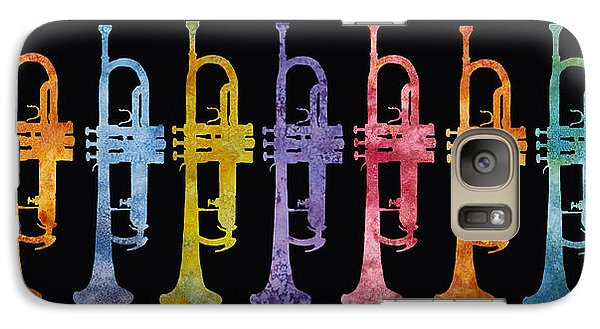 Rainbow Of Trumpets Galaxy Case by Jenny Armitage