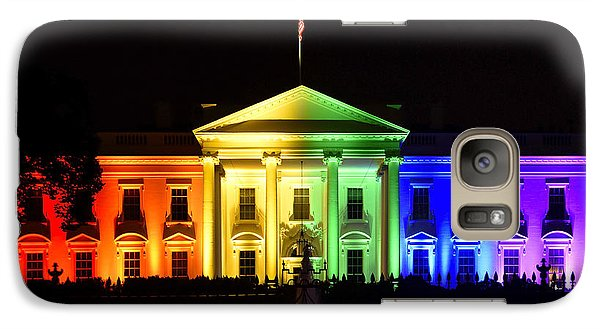 Rainbow White House  - Washington Dc Galaxy S7 Case by Brendan Reals