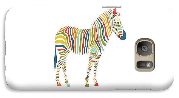 Rainbow Zebra Galaxy S7 Case by Nicole Wilson