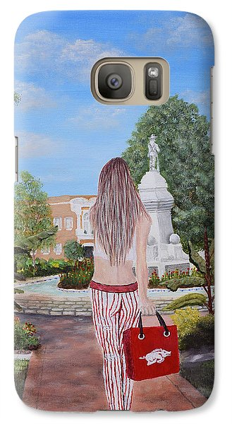 Razorback Swagger At Bentonville Square Galaxy S7 Case by Belinda Nagy