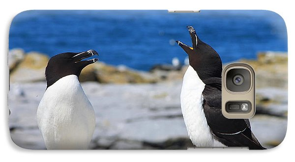 Razorbills Calling On Island Galaxy Case by John Burk