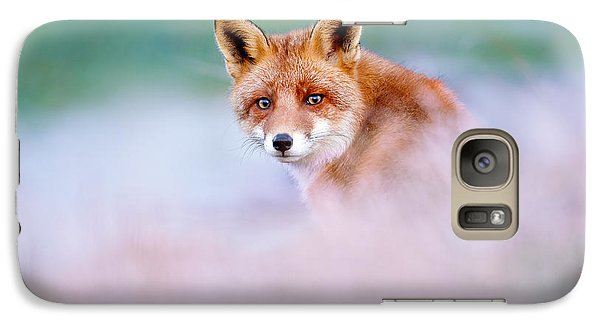 Red Fox In A Mysterious World Galaxy Case by Roeselien Raimond