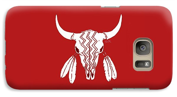 Red Ghost Dance Buffalo Galaxy Case by Steamy Raimon