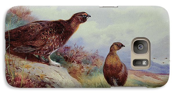 Red Grouse On The Moor, 1917 Galaxy S7 Case by Archibald Thorburn