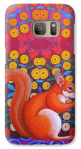 Red Squirrel Galaxy S7 Case by Jane Tattersfield
