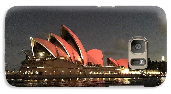 Red Sydney Opera House Galaxy Case by Sandy Taylor
