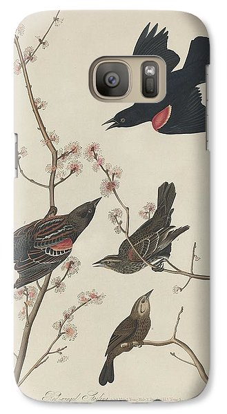 Red-winged Starling Galaxy Case by John James Audubon