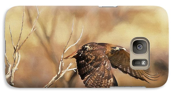 Redtail On The Move Galaxy Case by Donna Kennedy