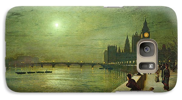 Reflections On The Thames Galaxy S7 Case by John Atkinson Grimshaw