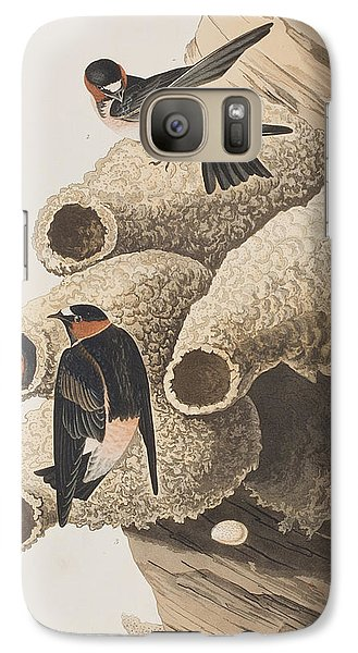 Republican Or Cliff Swallow Galaxy S7 Case by John James Audubon