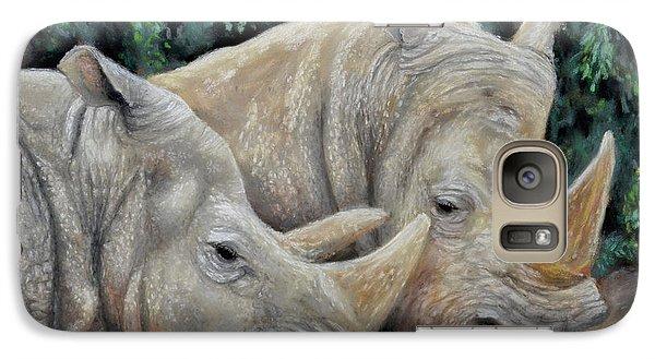 Rhinos Galaxy S7 Case by Sam Davis Johnson