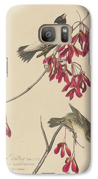 Rice Bunting Galaxy S7 Case by John James Audubon
