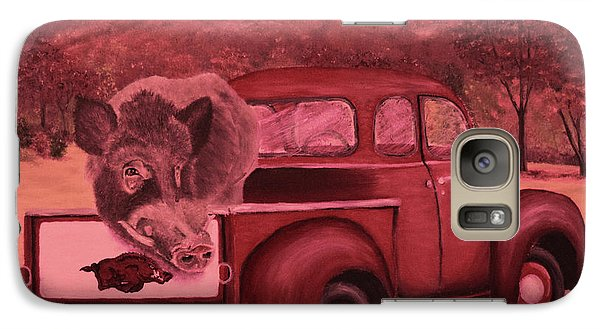 Ridin' With Razorbacks 3 Galaxy S7 Case by Belinda Nagy